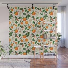 Clementine Crush in Cream Wall Mural