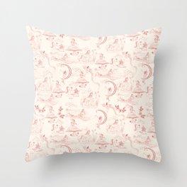 Toile de Trudie Throw Pillow