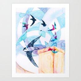 Chimney Divers Art Print