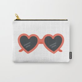 Heart Sunglasses Carry-All Pouch