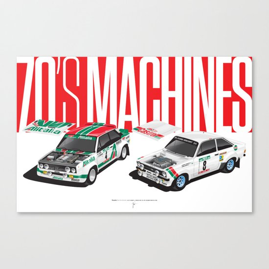 70's Machines Canvas Print