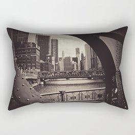 Up The Chicago River Rectangular Pillow