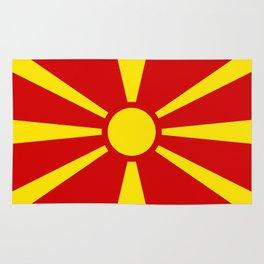 Macedonian national flag Rug
