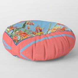 Ocotillo Blooms Floor Pillow