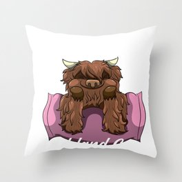 Just A Girl Who Loves Highland Cows Scottish Cattle Throw Pillow
