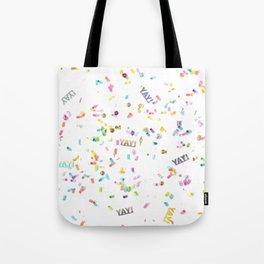 Yay Confetti Tote Bag