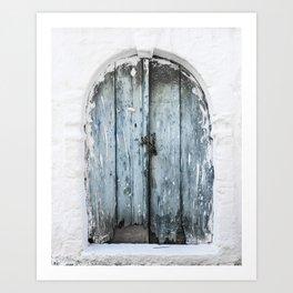 Old wooden door photo print, Crete, Greece, travel photography Art Print