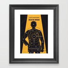 No740 My Death Wish minimal movie poster Framed Art Print