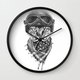 Don't Pussy Me Wall Clock