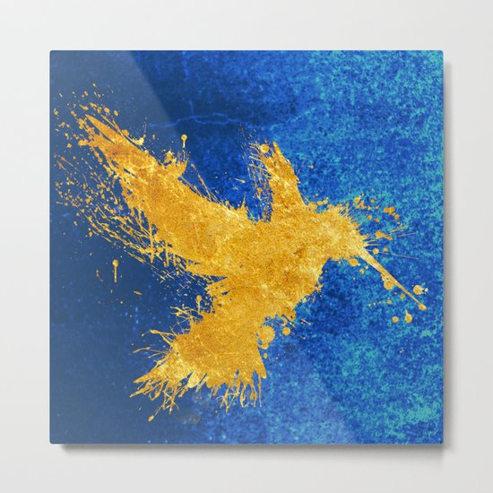 Hummingsplat - Gold Metal Print