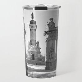 Couple at Madrid monument Travel Mug