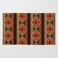 southwest Area & Throw Rugs featuring southwest stripe by design lunatic