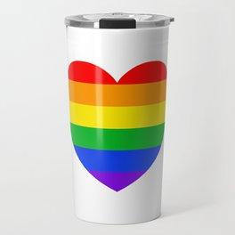 Rainbow Heart Travel Mug