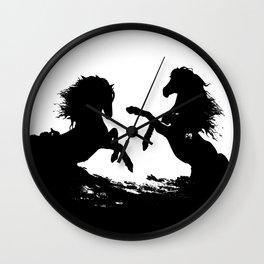 Wild horses 1 Wall Clock