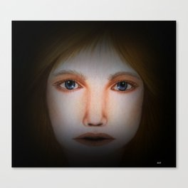 Darkness ---- Face Art by Saribelle Rodriguez Canvas Print