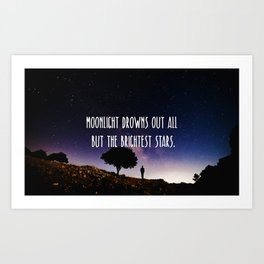 Moonlight drowns out all but the brightest stars. Art Print
