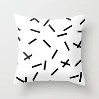 confetti Throw Pillows featuring Confetti by Caitlin Workman
