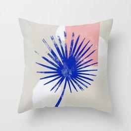 Blue spore Throw Pillow