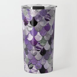 Mermaid Purple and Silver Travel Mug