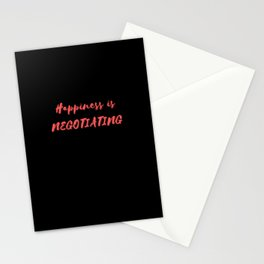 Happiness is Negotiating Stationery Cards