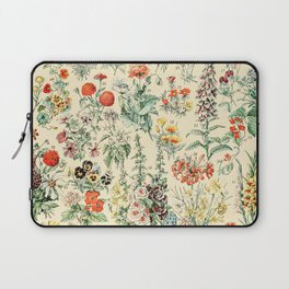 Wildflower Diagram // Fleurs II by Adolphe Millot 19th Century Science Textbook Artwork Laptop Sleeve