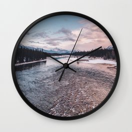 Icefields Parkway, AB IV Wall Clock