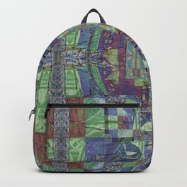 Geometric Futuristic Quilt 2: Calm Surrender Backpack