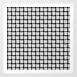 Small Pale Gray Weave Art Print