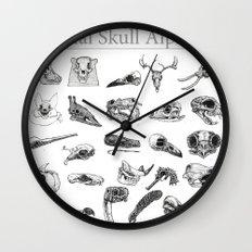 Animal Skull Alphabet Wall Clock