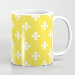 Butter Yellow Southern Cottage Fleur de Lys Coffee Mug