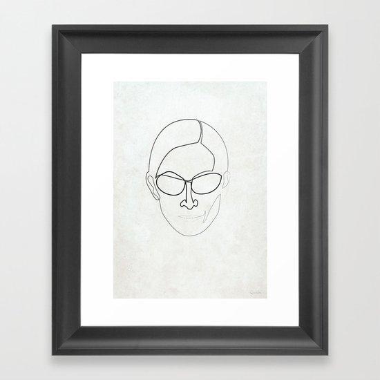 One Line Trinity Framed Art Print