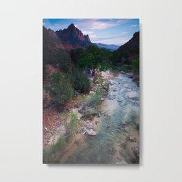 Zion National Park at Sunset Metal Print