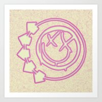blink 182 Art Prints featuring Blink 182 by Beastie Toyz