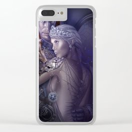 Wolf Queen Clear iPhone Case