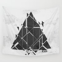 diablo Wall Tapestries featuring PLACE Triangle V2 by Sitchko Igor