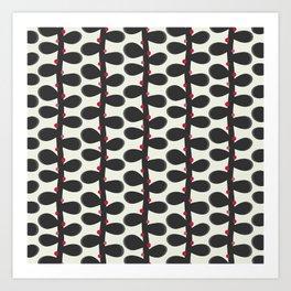 Like a Leaf [red spots] Art Print