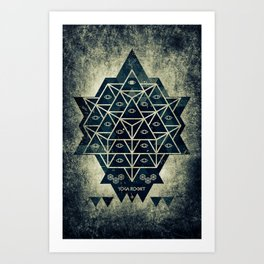 Sacred Geometry for your daily life - DARKIE YOGA ROCKET Art Print