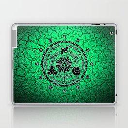 Green Circle Of Triangle Laptop & iPad Skin