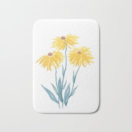 three yellow flowers Bath Mat