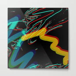 Jumping Mind Metal Print
