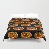 pumpkin Duvet Covers featuring pumpkin by amyskhaleesi