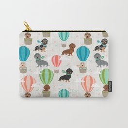 Dachshund hot air balloon dog cute design fabric doxie pillow decor phone case Carry-All Pouch