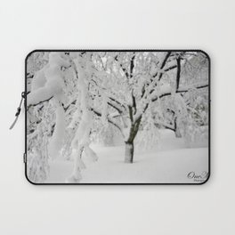 Weeping Ice Tree Laptop Sleeve