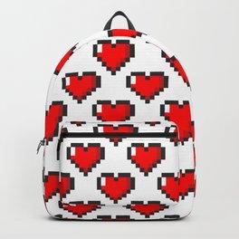 Pixel Heart Pattern Backpack
