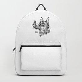 Steampunk Dog T-Shirt Butterfly on Nose German Shepherd Backpack