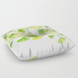 Ginkgo Watercolor  Floor Pillow