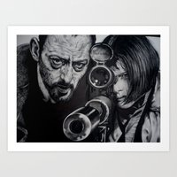 leon Art Prints featuring LEON by waynemaguire777
