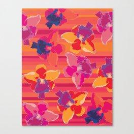 Fluor Flora - Hot Flamingo Canvas Print