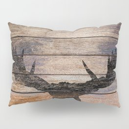 Rustic Black Moose Silhouette A424b Pillow Sham
