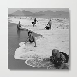 Bathing Woman in Vietnam - analog Metal Print